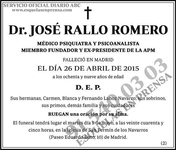 José Rallo Romero